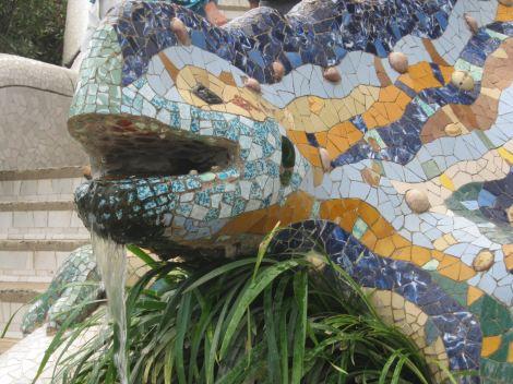 Park Guell_gecko fountain